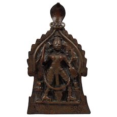 Antique 18th Century Indian Hindu Shiva Virabhdra Relief