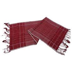 Selendang Songket ( Handi Handi ) Indonesian Shoulder Cloth Batak Circa 1950