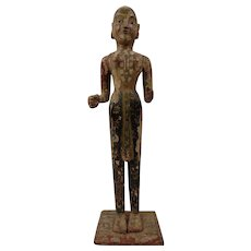 Antique Traditional Indian Hindu Standing Festival Figure