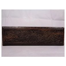 Antique Anglo-Indian Padouk Glove Box 19th Century