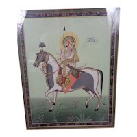 Magnificent Mughal Style Indian Miniature Shah Jahan
