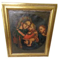 Maltese School Madonna Della Seddia 18th/ 19th Century Oil