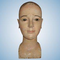Antique Lifelike Creche Doll Santos Head of The Virgin Stunning