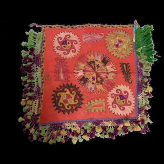 Rare Antique Lakai Embroidery Central Asian Ilgich