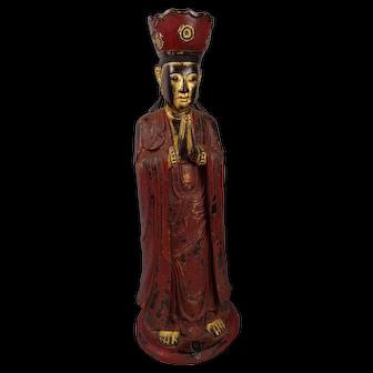 Rare Antique 18th Century Vietnam Vietnamese Buddhist Monk Sculpture