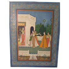 Superb Mughal School Indian Miniature 18th Century Manuscript