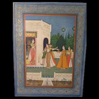 Superb Mughal School Indian Miniature 18th Century Manuscript
