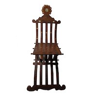 Antique Syrian Folding Chair Inlaid Pearl Decoration
