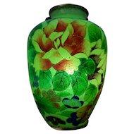 Japanese Plique a Jour Vase in Wooden Box - Exceptional !