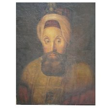 Rare Late 18th Century Islamic Portrait- Turkish Sultan Selim III
