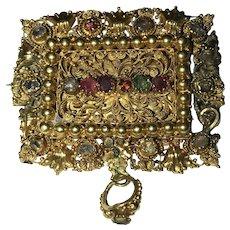 Georgian Gold 18 Karat Acrostic REGARD Brooch Relic Pendant