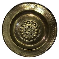 Exceptional German Alms Dish 1500's Church Plate