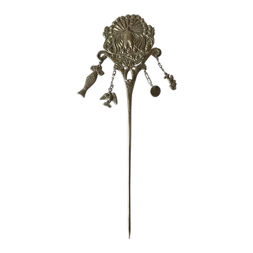 Amazing Andean Silver Tupu - Mantle Pin - Ttipqui Colonial 19th Century