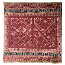 19th Century Indonesian Sumatran Tampan Ceremonial Ships Cloth