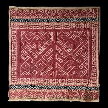 19th Century Indonesian Sumatran Tampan Ceremonial Ships Cloth