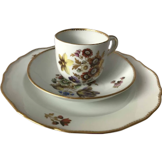 19th Century Meissen First Quality Rich Gilt Trio Cup/Saucer/Plate