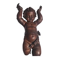 Gorgeous Antique 19th Century Valentino Besarel Statue of Putti Italian