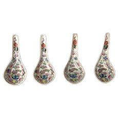 Rare Antique Straits Chinese Peranakan Daoguang Spoons