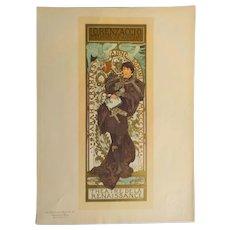 Alphonse Mucha Pl 114 Lorenzaccio, Les Maitres de L'Affiche, Imprimerie Chaix