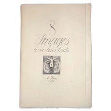 Paul Emile Becat Erotica, 8 Images Avec Leur Texte A Paris 1932