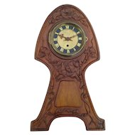 Art Nouveau Wooden Mantle Clock Case, Vintage