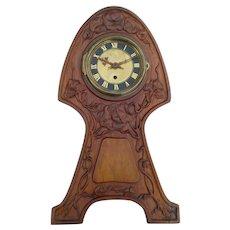 Art Nouveau Wooden Mantle Clock Case, Vintage