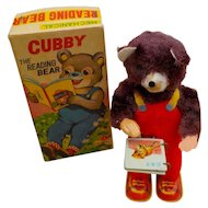 Cubby the Reading Bear, Vintage, Japan