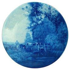 Joost Thooft and Labouchere Royal Delft Platter Cows at Watering Hole