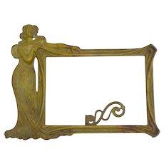 """Art Nouveau """"Woman"""" Frame, Cast Metal, Vintage"""