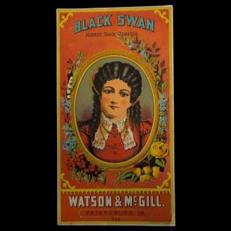 Black Swan Tobacco Caddy Label - Watson & McGill, Hoen & Co