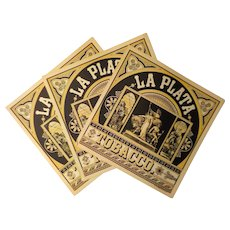 La Plata Tobacco Labels - 3 Caddy Labels, A. Hoen & Co.