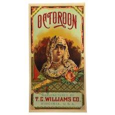 Octoroon Tobacco Caddy Label - T. C. Williams Co., A. Hoen & Co.