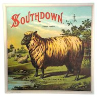 Southdown Tobacco Caddy Label - Maclin-Zimmer-McGill Tobacco Co.