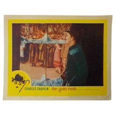 """Lobby Card - Charlie Chaplin """"The Gold Rush"""", 1959"""