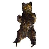 Miniature Bronze Bear, Vintage
