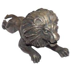 Miniature Bronze Lion, Vintage