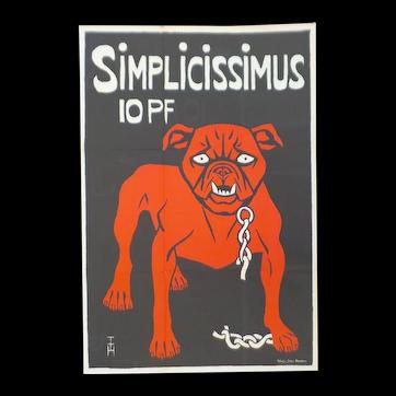 Simplicissimus IOPF Poster from Das Deutsche Plakat: Von Den Anfangen Bis, 1965