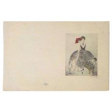 """Louis Icart """"Ayala Champagne"""" Etching (France, c 1920)"""