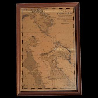 Coast Chart of the Bahama Islands, Nassau and Vicinity, Original from 1891 Book