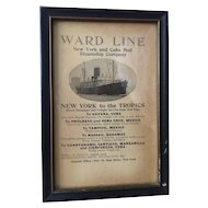 Ward Line New York to the Tropics, Cuba; Original advertisement from 1891 Book