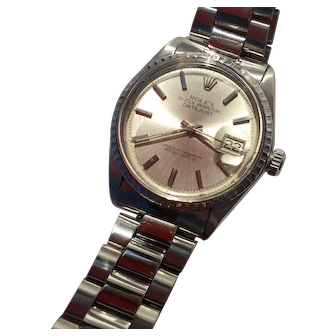 1967 ROLEX Oyster Perpetual Datejust Stainless Chronometer Serviced by Time Delay Dallas
