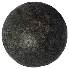 8 Pound Cannonball Antique Conserved by Archaeological Process may be Spanish or French