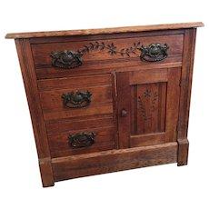 Antique Oak Wash Stand Ca.1900