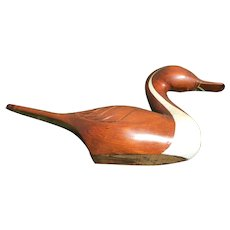 Duck Decoy Hand Carved by Styles Bridges 1980