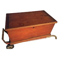 Sea Chest Ca 1900 Pine & Oak Used on 1937 Lunenburg Schooner Harry W Adams