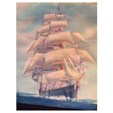 Full Rigged Ship with Studding Sails, Fair Wind Following Sea