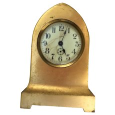 Vintage Beehive 8 Day Mantle Clock Gilt Metal Case