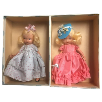 Two Jointed Storybook dolls