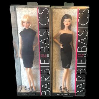 Two MIB Barbie Basics dolls