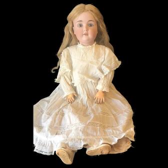 """28"""" Bisque doll - probably Kestner"""